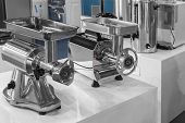 picture of exposition  - Two machine for mincing meat presentation equipment - JPG