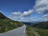 Scenic touristic road in Scandinavia poster