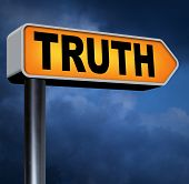 stock photo of honesty  - truth be honest honesty leads a long way find justice law and order road sign arrow  - JPG