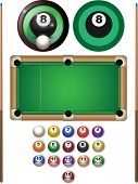 picture of pool ball  - Pool image set with balls - JPG
