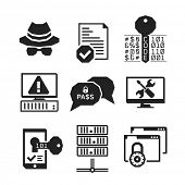 pic of hack  - Hacking icons set 01  - JPG