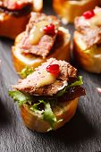 foto of canapes  - canape with beef meat - JPG