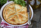 image of phyllo dough  - Tiropita  - JPG