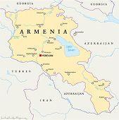pic of armenia  - Armenia Political Map with capital Yerevan - JPG