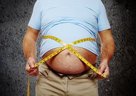 stock photo of big belly  - Fat belly - JPG