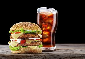 pic of takeaway  - Hamburger and cola drink - JPG