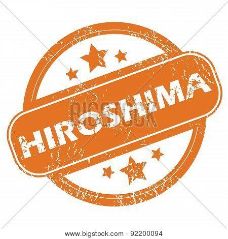 Hiroshima round stamp