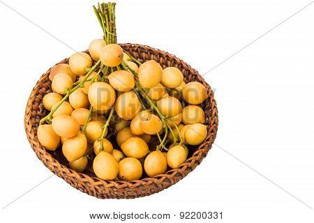 Baccaurea Ramiflora In Bambootray