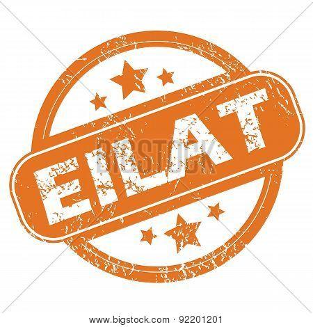 Eilat round stamp