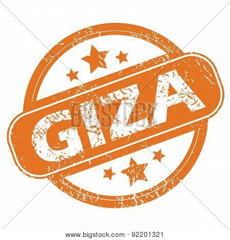 Giza round stamp