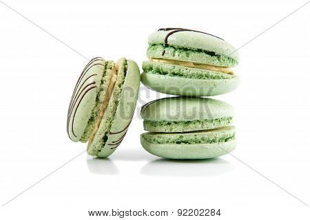 Macaroons Isolated On A White Background