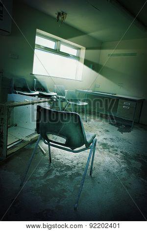 derelict office