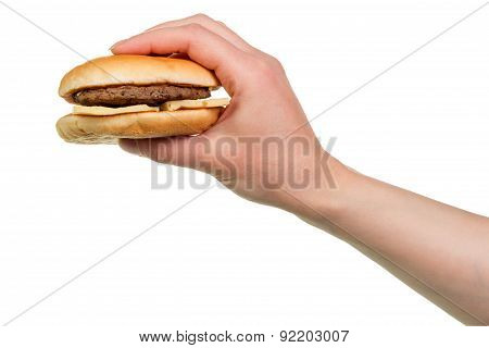 Burger sandwich in hand