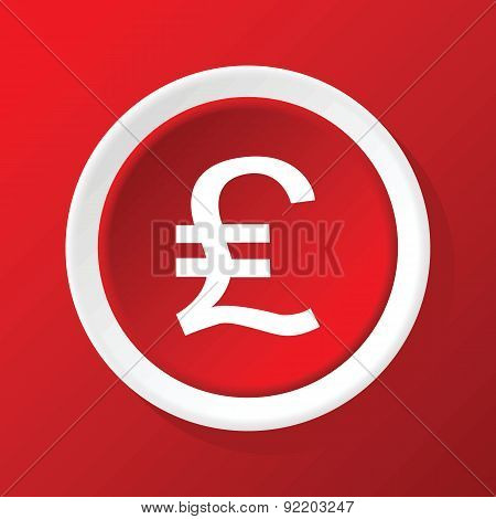 Pound sterling icon on red