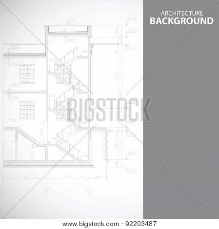 Monochrome stairs architecture background