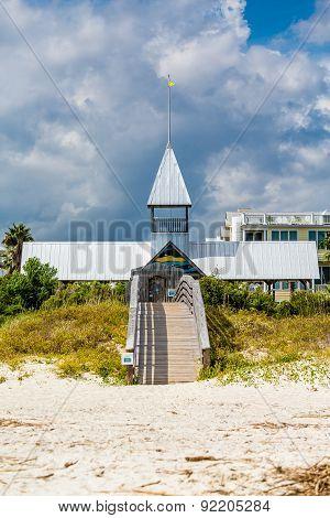 Condo Beach Entrance Vertical