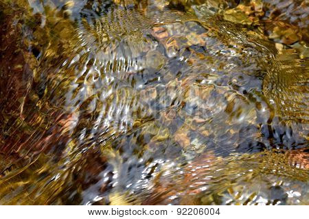 Abstract texture river creek stream, water on rock