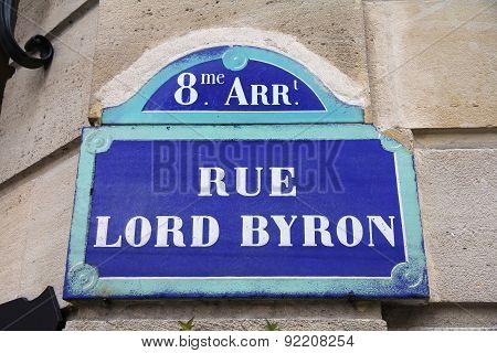 Rue Lord Byron