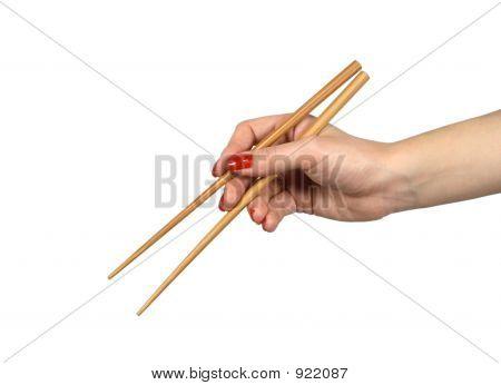 Chopsticks In A Hand1