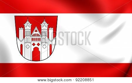 Flag Of Hoxter, Germany.