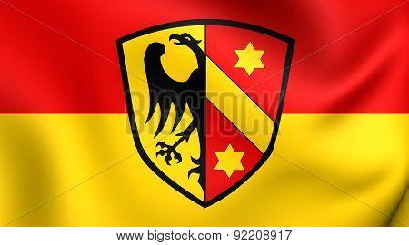 Flag Of Kaufbeuren, Germany.