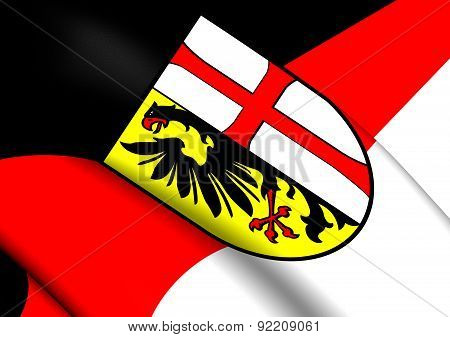 Flag Of Memmingen, Germany.