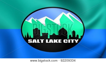 Flag Of Salt Lake City, Usa.