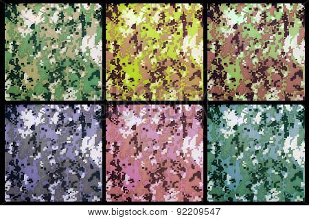 Digital Camouflage As Background Or Pattern