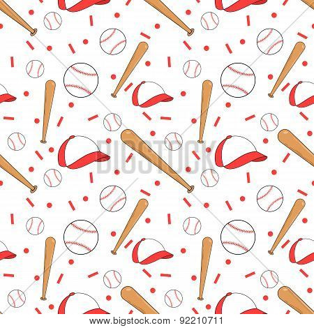 Seamless baseball pattern