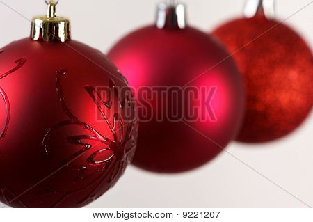 Close Up Of Christmas Balls