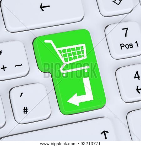 Internet Concept Online Shopping Order E-commerce Shop