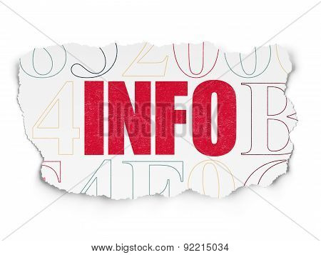 Information concept: Info on Torn Paper background