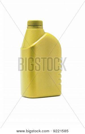 Recipientes de plástico amarelos em branco