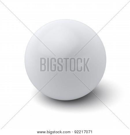 White Ball Isolated On White Background