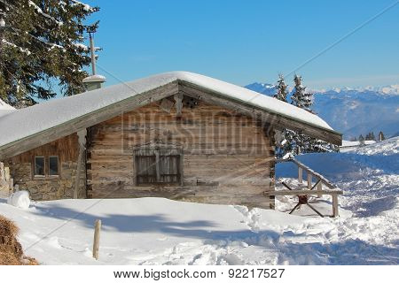 Mountain Shack In Winter, Germany