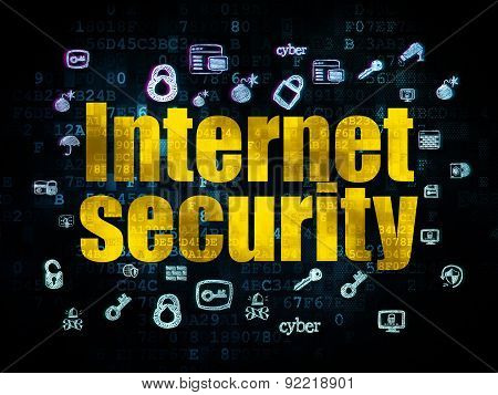 Security concept: Internet Security on Digital background