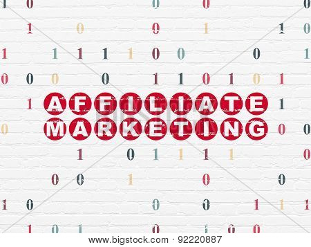 Finance concept: Affiliate Marketing on wall background
