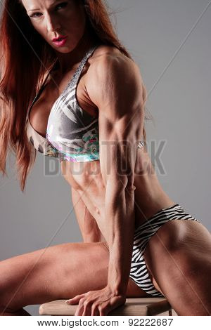 Female Bodybuilder In Bikini