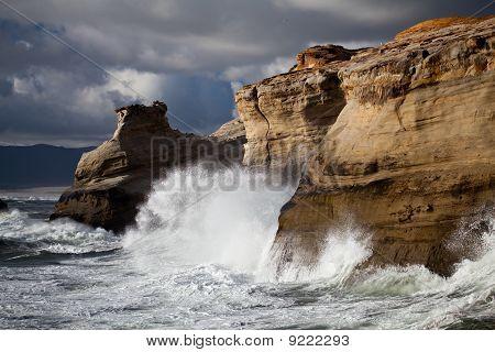 Oregon Coast Rough Seas Landscape