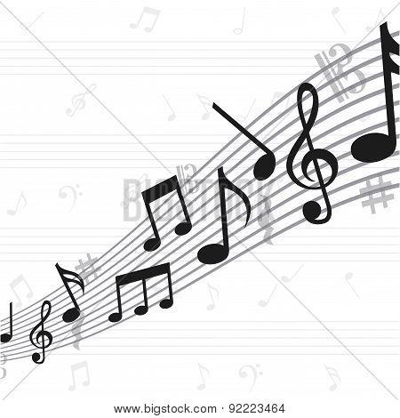 music design over  white background vector illustration