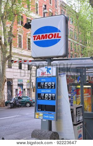 Tamoil Gas Station In Italy