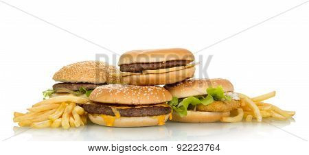 Tasty hamburger sandwiches
