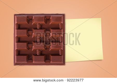 Bar Chocolate With Sticky Post