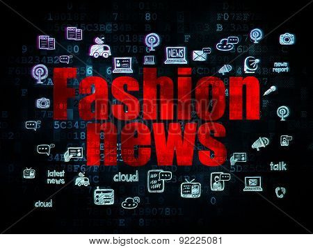 News concept: Fashion News on Digital background