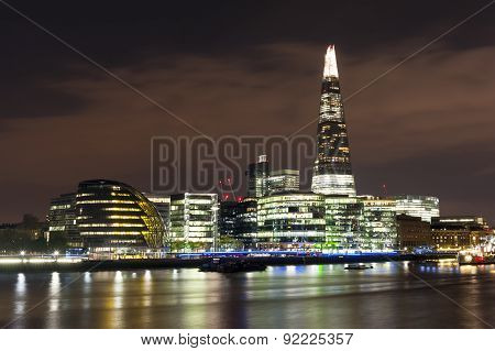 A Landscape View Of The Shard At Night