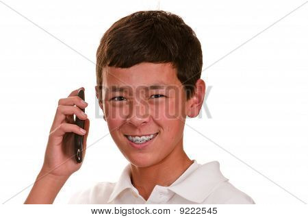 Teen On Cellular Telephone (cellphone)
