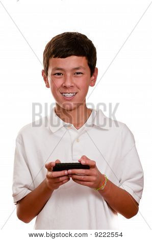 Teen On Cellular Telephone (cellphone) Texting