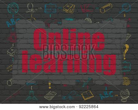Studying concept: Online Learning on wall background