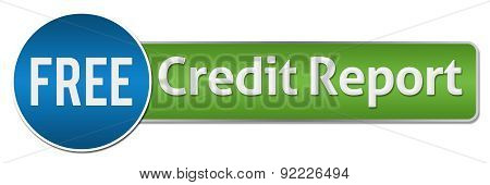 Free Credit Report Green Blue Horizontal
