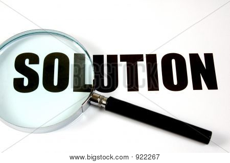 Magnifying Glass And Text - Solution